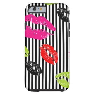 Stripey Colorful Lips iPhone 6 case