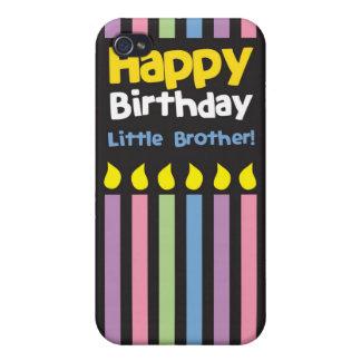 Stripey de pequeño Brother del feliz cumpleaños iPhone 4 Carcasa