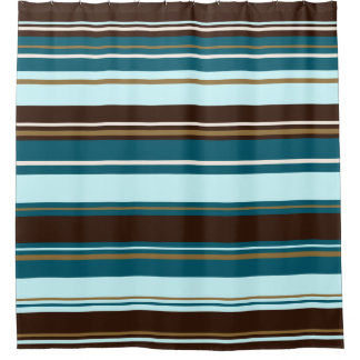Brown Teal Shower Curtains | Zazzle