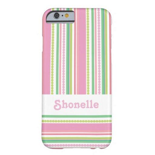 Stripey gotea la caja conocida rosada del iphone funda barely there iPhone 6