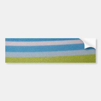 Stripey green! car bumper sticker