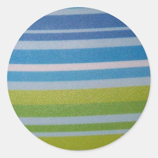 Stripey green! sticker