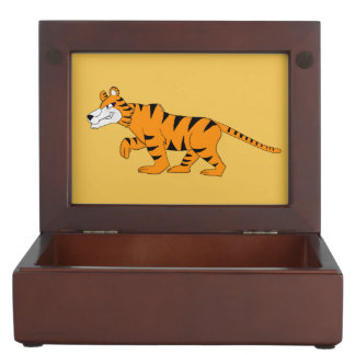 Stripey tiger memory box