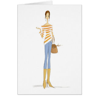 Stripey top card