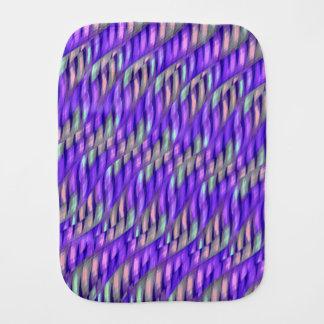 Striping Waves Bright Purple Abstract Artwork Baby Burp Cloth