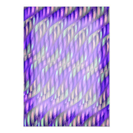 Striping Waves Bright Purple Abstract Artwork Card