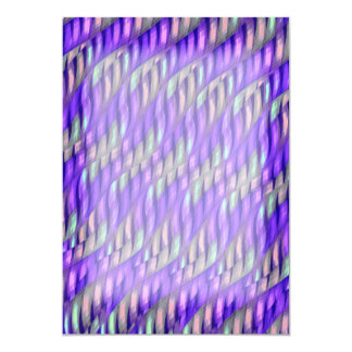 Striping Waves Bright Purple Abstract Artwork Personalized Invitation