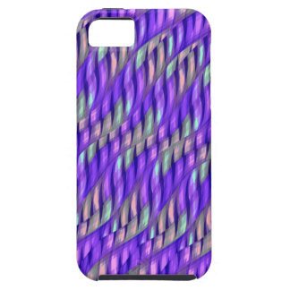 Striping Waves Bright Purple Abstract Artwork iPhone SE/5/5s Case