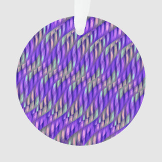 Striping Waves Bright Purple Abstract Artwork Ornament