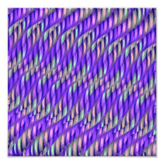 Striping Waves Bright Purple Abstract Artwork Photograph