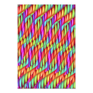 Striping Waves Bright Rainbow Abstract Artwork Photographic Print