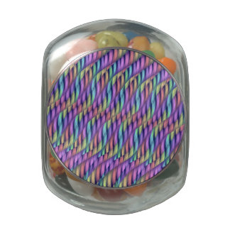 Striping Waves Pastel Rainbow Abstract Artwork Jelly Belly Candy Jars