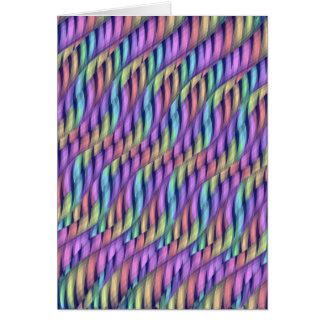 Striping Waves Pastel Rainbow Abstract Artwork Greeting Card