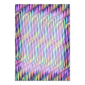 Striping Waves Pastel Rainbow Abstract Artwork Invitation
