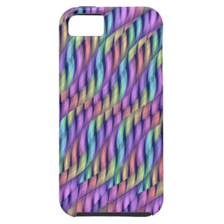 Striping Waves Pastel Rainbow Abstract Artwork iPhone SE/5/5s Case