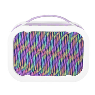 Striping Waves Pastel Rainbow Abstract Artwork Lunchboxes
