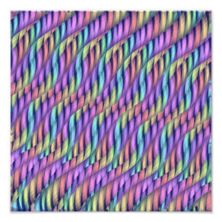 Striping Waves Pastel Rainbow Abstract Artwork Photograph