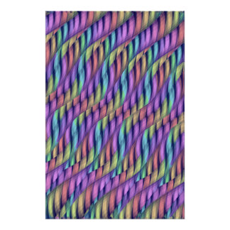 Striping Waves Pastel Rainbow Abstract Artwork Poster