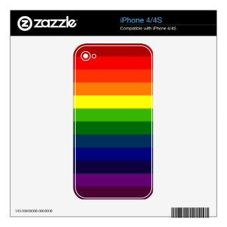 STRIPITTY! STRIPETTY!  IT'S RAINBOW STRIPES! ~ SKIN FOR iPhone 4