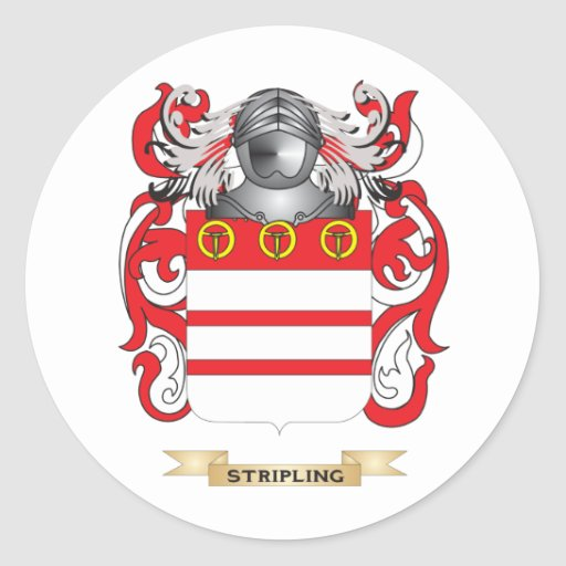 Stripling Coat of Arms (Family Crest) Round Sticker