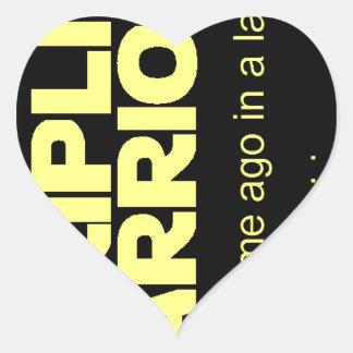 Stripling Warriors Heart Sticker