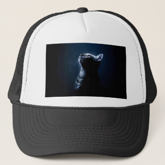 Stripped Cat in the Moonlight Trucker Hat