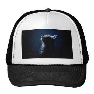 Stripped Cat in the Moonlight Trucker Hat