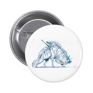 Stripped Hyena Pinback Button
