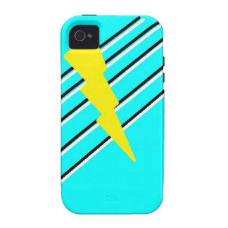 Stripped Lightning bolt case iPhone 4 Covers