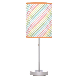 stripped patterns table lamp