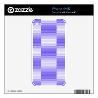 Strips - blue and white skins for the iPhone 4
