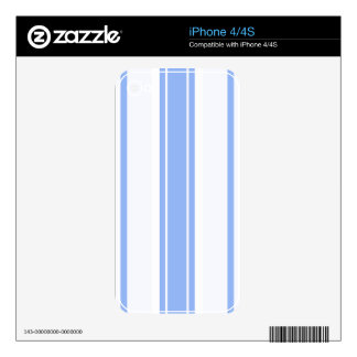 Strips - blue. skin for the iPhone 4