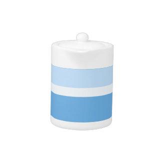 Strips - blue. teapot