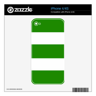 Strips - green and white iPhone 4S decal