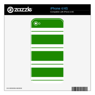 Strips - green and white skins for the iPhone 4S