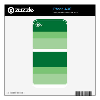 Strips - green iPhone 4 decal