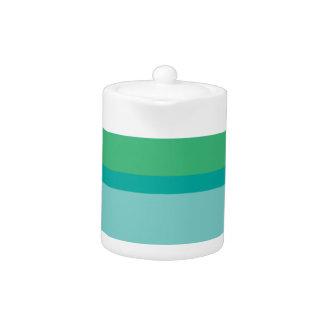 Strips - green. teapot