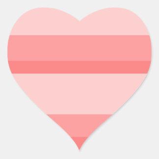 Strips - pink. heart sticker