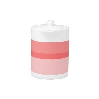 Strips - pink. teapot