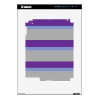 Strips - purple and gray. decals for iPad 3