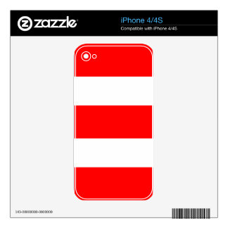 Strips - red and white. decals for the iPhone 4S