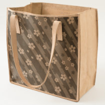 Strips with Daisies Tote
