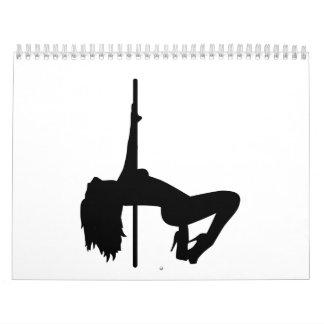 Striptease girl calendar