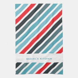 Stripy Background Personalized Kitchen Towels