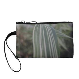 Stripy bamboo coin wallet