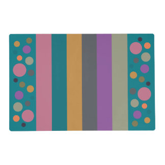 Stripy Dotty Fall 2015 Colors Placemat