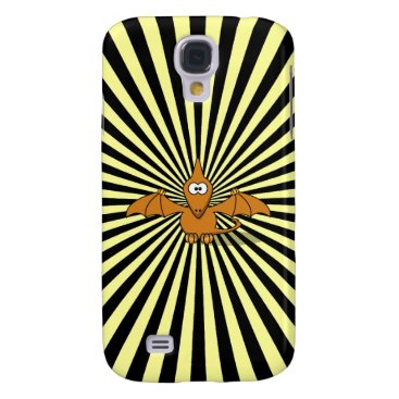 Stripy Green Pterodactyl Cartoon iPhone 3G Case