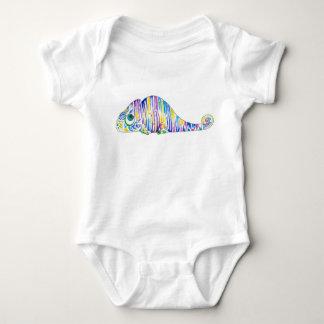 Stripy Marcel the Chameleon Baby Bodysuit