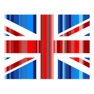Stripy UK Postcard