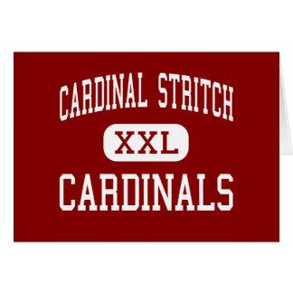 Stritch cardinal - cardenales - alto - Oregon Ohio Felicitaciones